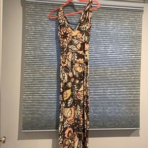 Loft Flower Maxi Dress